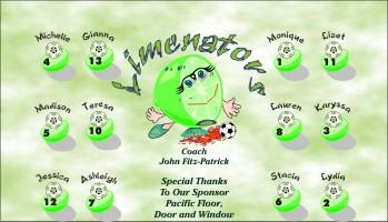 Limenators Soccer Banner - Custom Limenators Soccer Banner