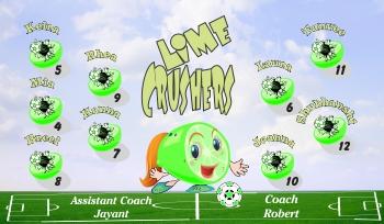 Limenators Soccer Banner - Custom LimenatorsSoccer Banner