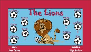 Lions Soccer Banner - Custom Lions Soccer Banner