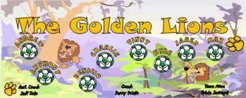 Lions Soccer Banner - Custom LionsSoccer Banner