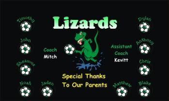 Lizards Soccer Banner - Custom Lizards Soccer Banner