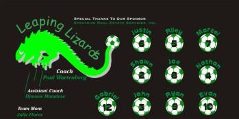 Lizards Soccer Banner - Custom LizardsSoccer Banner