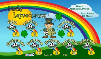 Lucky Soccer Banner - Custom Lucky Soccer Banner
