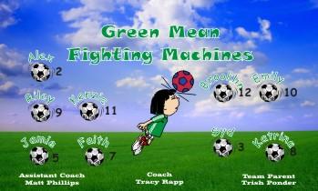 Machines Soccer Banner - Custom Machines Soccer Banner