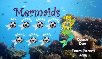 Mermaids Soccer Banner - Custom MermaidsSoccer Banner
