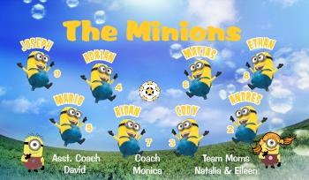 Minions Soccer Banner - Custom MinionsSoccer Banner