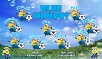 Minions Soccer Banner - Custom Minions Soccer Banner