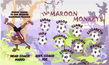 Monkeys Soccer Banner - Custom MonkeysSoccer Banner
