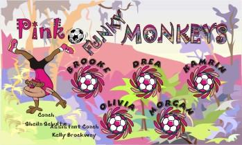 Monkeys Soccer Banner - Custom Monkeys Soccer Banner