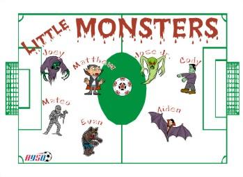 Monsters Soccer Banner - Custom Monsters Soccer Banner