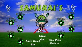 Ninja Soccer Banner - Custom NinjaSoccer Banner