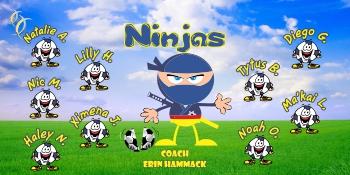 Ninja Soccer Banner - Custom Ninja Soccer Banner