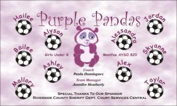 Pandas Soccer Banner - Custom PandasSoccer Banner
