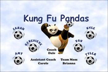 Pandas Soccer Banner - Custom Pandas Soccer Banner