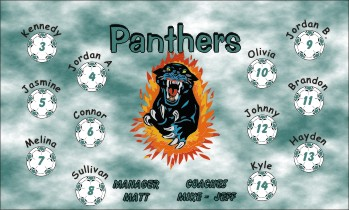 Panthers Soccer Banner - Custom PanthersSoccer Banner