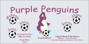 Penguins Soccer Banner - Custom Penguins Soccer Banner