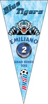 Pennants Soccer Banner - Custom PennantsSoccer Banner