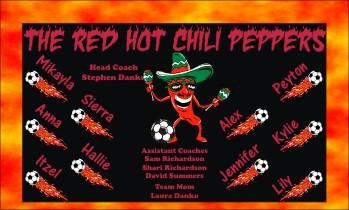 Peppers Soccer Banner - Custom Peppers Soccer Banner