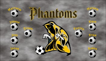 Phantoms Soccer Banner - Custom PhantomsSoccer Banner