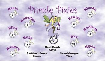 Pixies Soccer Banner - Custom Pixies Soccer Banner