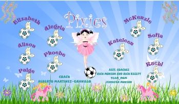 Pixies Soccer Banner - Custom PixiesSoccer Banner