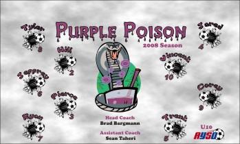Poison Soccer Banner - Custom Poison Soccer Banner