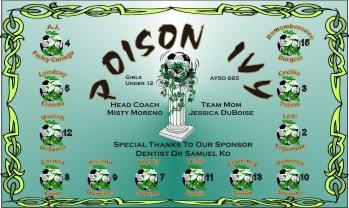 Poison Soccer Banner - Custom PoisonSoccer Banner