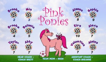 Ponies Soccer Banner - Custom Ponies Soccer Banner