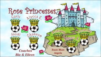 Princesses Soccer Banner - Custom PrincessesSoccer Banner