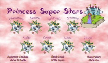 Princesses Soccer Banner - Custom Princesses Soccer Banner