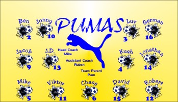 Pumas Soccer Banner - Custom Pumas Soccer Banner
