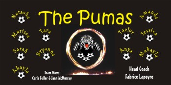 Pumas Soccer Banner - Custom PumasSoccer Banner