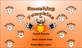 Pumpkins Soccer Banner - Custom PumpkinsSoccer Banner