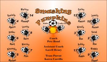 Pumpkins Soccer Banner - Custom Pumpkins Soccer Banner