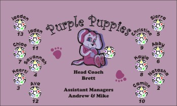 Puppies Soccer Banner - Custom PuppiesSoccer Banner
