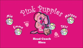 Puppies Soccer Banner - Custom Puppies Soccer Banner