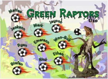 Raptors Soccer Banner - Custom RaptorsSoccer Banner