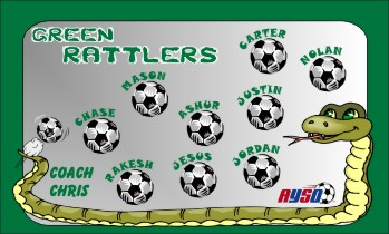 Rattlers Soccer Banner - Custom RattlersSoccer Banner