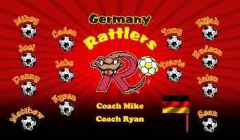 Rattlers Soccer Banner - Custom Rattlers Soccer Banner