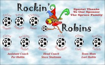 Robins Soccer Banner - Custom Robins Soccer Banner