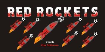 Rockets Soccer Banner - Custom Rockets Soccer Banner