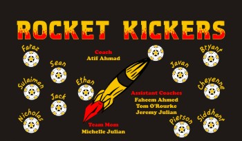 Rockets Soccer Banner - Custom RocketsSoccer Banner