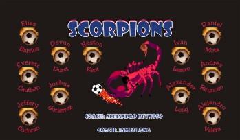 Scorpion Soccer Banner - Custom ScorpionSoccer Banner