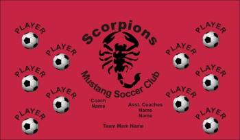 Scorpion Soccer Banner - Custom Scorpion Soccer Banner