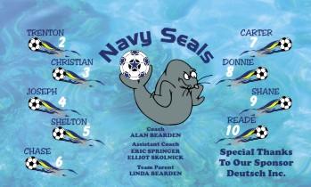 Seals Soccer Banner - Custom Seals Soccer Banner