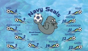 Seals Soccer Banner - Custom SealsSoccer Banner