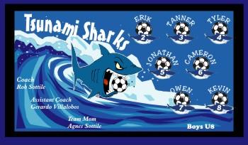 Sharks Soccer Banner - Custom SharksSoccer Banner