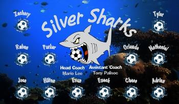 Sharks Soccer Banner - Custom Sharks Soccer Banner