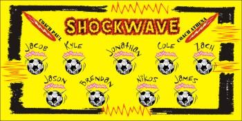Shock Soccer Banner - Custom ShockSoccer Banner