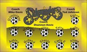 Sidewinders Soccer Banner - Custom Sidewinders Soccer Banner